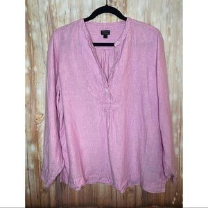 Baird McNutt for J Crew- Pink Linen Tunic Top